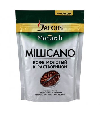 Кофе растворимый Jacobs Monarch Millicano 130г, эконом пакет