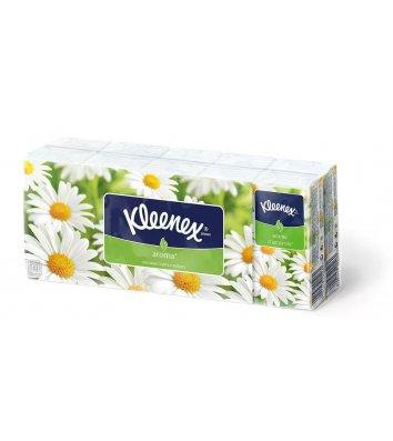 Носові хустинки двошарові 10шт 10уп Aroma, Kleenex