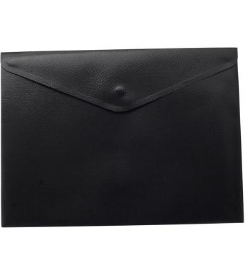 Папка-конверт А4 на кнопці пластикова непрозора чорна, Buromax