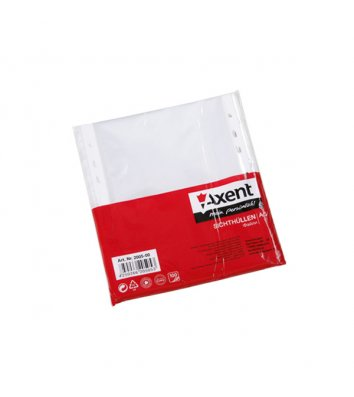 Файлы А5 40мкм 100шт глянцевые, Axent