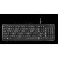 Клавіатура комп'ютерна провідна чорна, Trust Ziva Keyboard RU