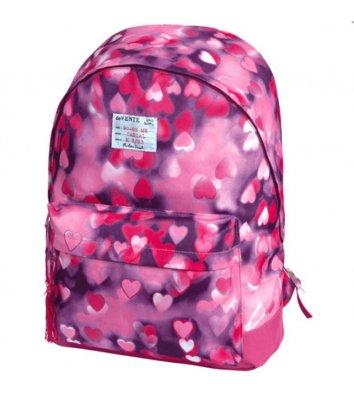 """Рюкзак молодіжний """"Simple Pink Heart"""", Zibi"""
