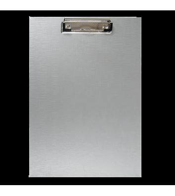 Планшет А4 с прижимом PVC серый, Buromax