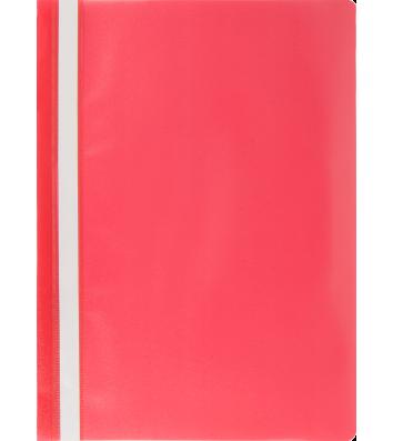 Папка-швидкозшивач А4 без перфорації, фактура матова червона, Buromax