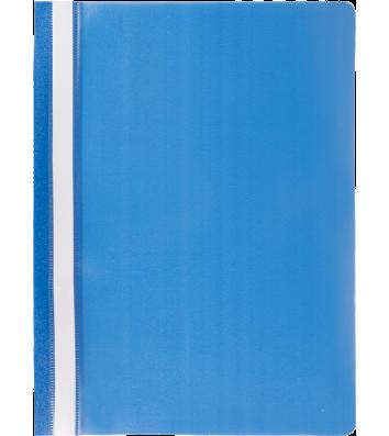 Папка-швидкозшивач А4 без перфорації, фактура матова синя, Buromax