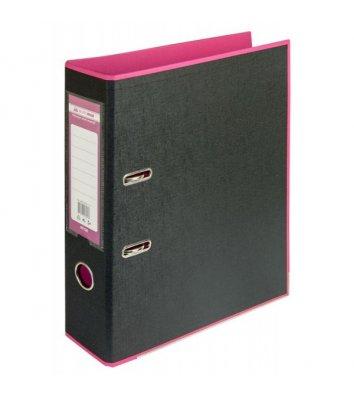 Папка-реєстратор А4 50мм двостороння рожева/чорна Style, Buromax