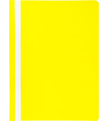 Папка-швидкозшивач А4 без перфорації, фактура матова жовта, Buromax
