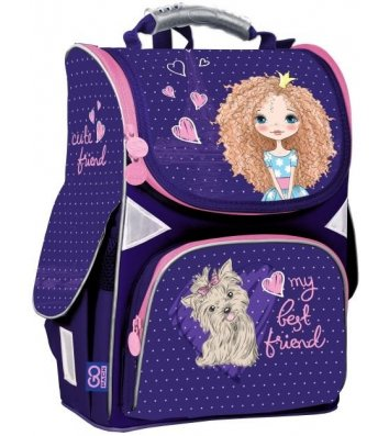 Рюкзак каркасный школьный Cute Friend Gopack, Kite