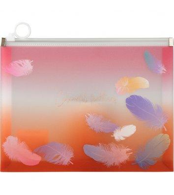 Папка-конверт А5 на блискавці пластикова Colourful Feather, Axent