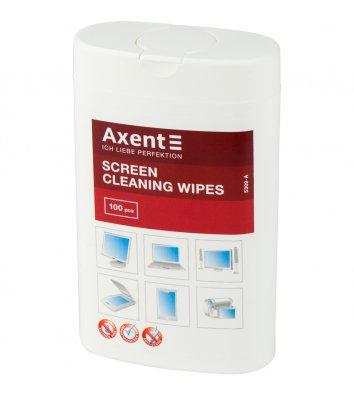 Салфетки влажные для очистки экранов 100шт в тубе, Axent