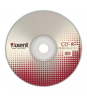 Диск CD-R 700mb 80min 52x , Axent