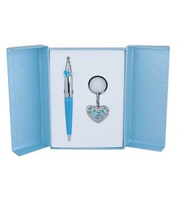 Набір ручка кулькова та брелок Miracle синій, Langres
