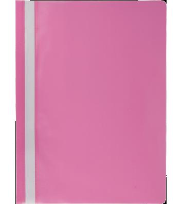 Папка-швидкозшивач А4 без перфорації, фактура матова рожева, Buromax