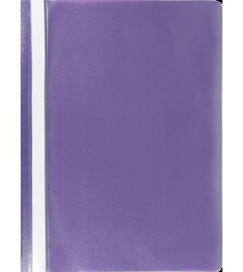 Папка-швидкозшивач А4 без перфорації, фактура матова фіолетова, Buromax