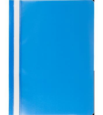 Папка-швидкозшивач А4 без перфорації, фактура матова блакитна, Buromax