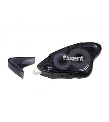 Коректор стрічковий 8м*5мм чорний, Axent