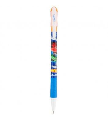 Ручка кулькова Hot Wheels, колір чорнил синій 0,5мм, Kite