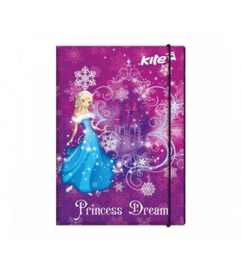 Папка для труда А4 на резинке ламинированный картон Princess Dream, Kite