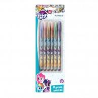 Набір гелевих ручок 6 кольорів з глітером 0,8мм Little Pony, Kite