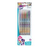 Набор гелевых ручек 6 цветов с глиттером 0,8мм Little Pony, Kite