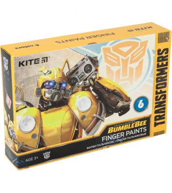 """Фарби пальчикові 6 кольорів 35мл """"Transformers"""", Kite"""