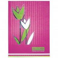"""Книга канцелярська A4 80арк клітинка тверда обкладинка """"Квіти"""", Buromax"""