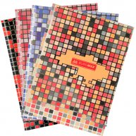 "Книга канцелярська A4 80арк клітинка тверда обкладинка ""Mosaic"", Buromax"