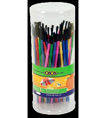 Кисточка для рисования синтетическая, цвет ассорти, Zibi
