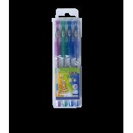 Набор гелевых ручек 4 цвета с глиттером 0,7мм, Zibi