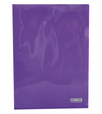 Папка-куточок А4 пластикова  Jobmax фіолетова, Buromax