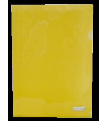 Папка-куточок А4 пластикова  Jobmax жовта, Buromax