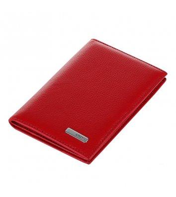 Обкладинка для паспорту шкіряна червона, Karya