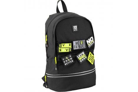 Рюкзак молодежный Simple Black Abstract, Zibi