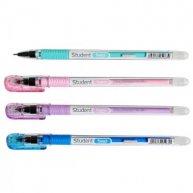 Ручка гелева пиши-стирай Student, колір чорнил синій 0,5мм, Axent
