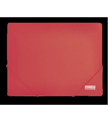 Папка А4 пластикова на гумках червона, Buromax