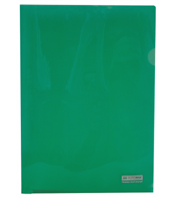 Папка-куточок А4 пластикова  Jobmax зелена, Buromax