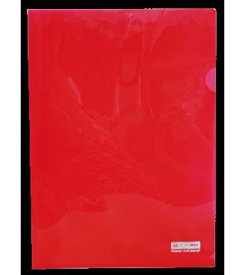 Папка-куточок А4 пластикова  Jobmax червона, Buromax
