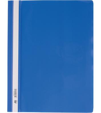 Папка-швидкозшивач А4 без перфорації, фактура глянець синя, Buromax