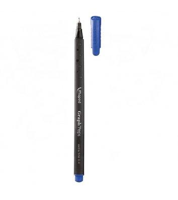 Лайнер Graph Peps, цвет чернил синий 0,4мм, Maped