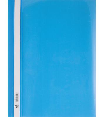 Папка-швидкозшивач А4 без перфорації, фактура глянець блакитна, Buromax