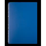 Блокнот A4 80арк клітинка Classic, бічна спіраль синій, Buromax