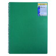 Блокнот A4 80арк клітинка Classic, бічна спіраль зелений, Buromax