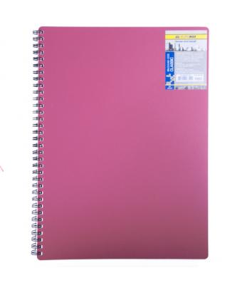 Блокнот A6 80арк клітинка Classic, бічна спіраль червоний, Buromax