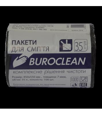 Пакет для сміття  35л/100шт 45*55см чорний, BuroClean