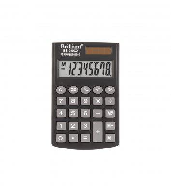 Калькулятор 8 разрядов карманный 62*98*10мм, Brilliant