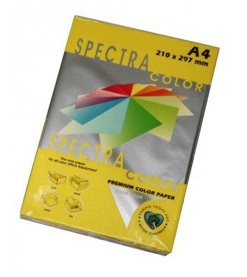 Бумага А4 75г/м2 100л цветная Spectra Color, интенсивная лимонная