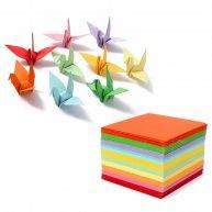 Папір для орігамі  9*9см 100арк 10 кольорів