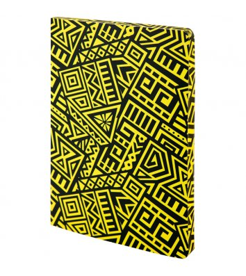 Блокнот А5 128арк в крапку/нелінований The Runes жовтий, Axent