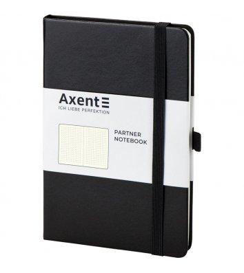 Діловий записник А5 96арк в крапку Partner чорний, Axent