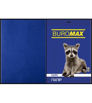 Бумага А4 80г / м2 50л цветная темно-синяя, Buromax